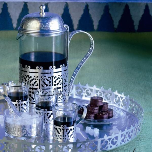 ست چایخوری روکش نقره - AliBaba
